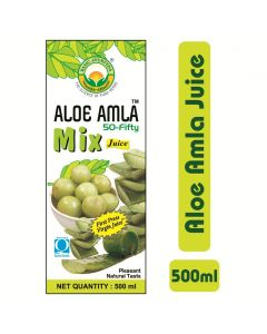 Basic Ayurveda Aloe Amla 50-Fifty Mix Juice 500ml