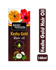 Basic Ayurveda Keshu Gold Hair Oil 100ml