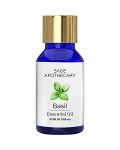 Sage Apothecary Basil Essential Oil - 10ml