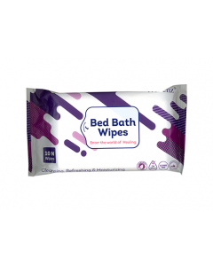 Wiclenz Bed Bath Wipes XL - Set of 10 Wipes - Pack of 4