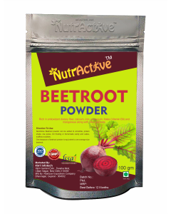 NutrActive Beetroot Powder | Chukandar powder For Healthy Hair Growth and Skin Care | 100 gm