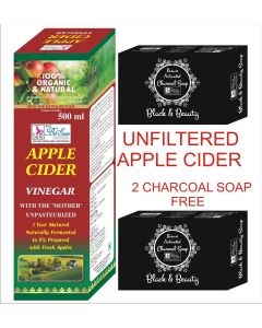 BeSure Apple Cider Vinegar-Unfiltered Syrup 500 ml- 2 Charcoal Soap Free