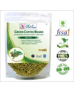BeSure Green Coffee Beans Decaffeinated Unroasted Arabica 200 gm Unflavoured