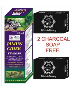 BeSure Jamun Cider Vinegar-500 ml- 2 Charcoal Soap Free