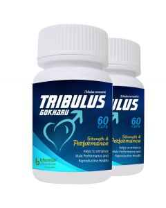 Bhumija Lifesciences Tribulus Gokharu Capsules 60's (Two Pack)