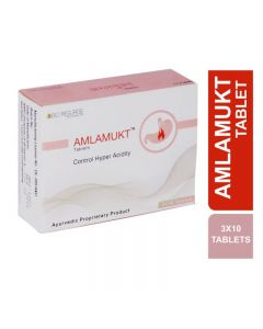 Bio Resurge Amlamukt Tablets For Controlling Hyper Acidity (3 Strips X 10 Tablets)