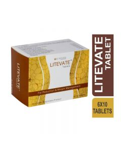 Bio Resurge Litevate Tablets for Fat Reduction And Weight Management (6 Strips X 10 Tablets)