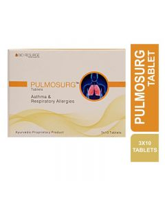 Bio Resurge Pulmosurg Tablet For Asthma And Respiratory Allergies (3 Strips X 10 Tablets)