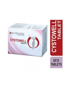 Bio Resurge Cystowell 750 Mg Tablets Helpful To Control Ovary Cyst (6 Strips X 10 Tablets)
