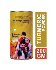 Bio Resurge Turmeric Pure And Unadulterated Haldi With High Curcumin Percentage Of 5% - 200gm