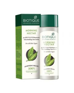 Biotique 30+SPF Morning Nectar Sunscreen Ultra Soothing Face Lotion - 120ml