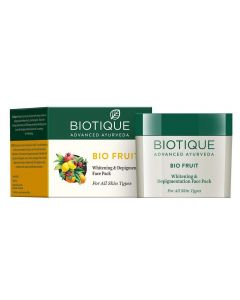 Biotique Advanced Ayurveda Bio Fruit Whitening and De-Pigmentation Face Pack - 75g (For All Skin Types)(Pack of 2)