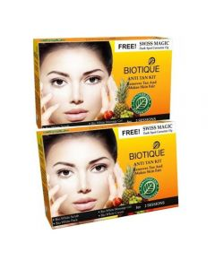 Biotique Anti Tan Facial Kit (Pack of 2) + Free Swiss Magic Dark Spot Corrector