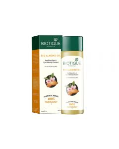 Biotique Bio Almond Oil Soothing Face and Eye Make Up Cleanser for Normal to Dry Skin - 120ml