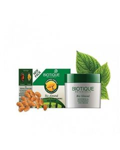 Biotique Bio Almond Soothing and Nourishing Eye Cream For Dark Circles & Puffiness - 15 g
