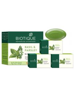 Biotique Bio Basil And Parsley Revitalizing Body Soap 75g (Pack of 3)
