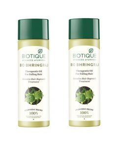 Biotique Bio Bhringraj Therapeutic Oil for Falling Hair - 120ml (Pack of 2)