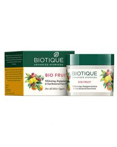 Biotique Bio Fruit Whitening And Depigmentation & Tan Removal Face Pack - 75g