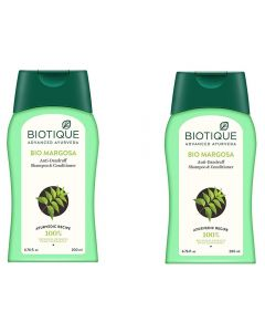 Biotique Bio Margosa Anti-Dandruff Shampoo & Conditioner - 200ml (Pack of 2)