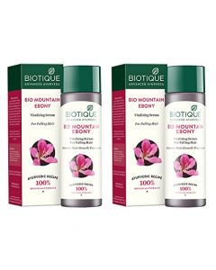Biotique Bio Mountain Ebony Fresh Growth Stimulating Vitalizing Serum - 120ml (Pack of 2)