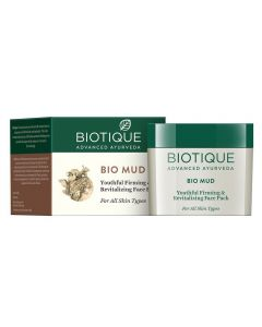 Biotique Bio Mud Youthful Firming & Revitalizing Face Pack For All Skin Types - 75g