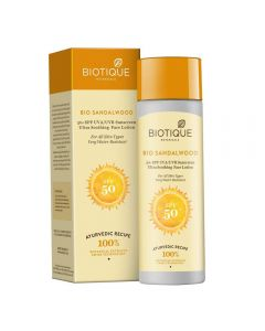 Biotique Bio Sandalwood SPF 50+ Sunscreen Ultra Soothing Face Lotion - 120ml