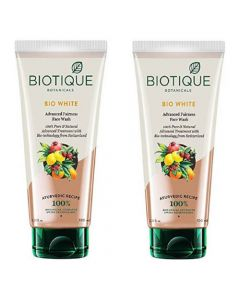 Biotique Bio White Whitening and Brightening Face Wash - 100ml (Pack of 2)
