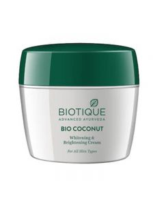 Biotique Coconut Whitening And Brightening Cream - 175g