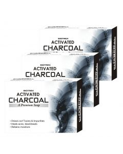 Biotrex Activated Charcoal - A Premium Soap, 75gm - Pack of 3