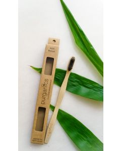 Purganics Bamboo Toothbrush Adult - Black
