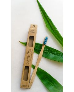 Purganics Bamboo Toothbrush Adult - Blue