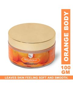 Teenilicious Orange Body Scrub, Body Polisher for Men's and Women, 100 grm