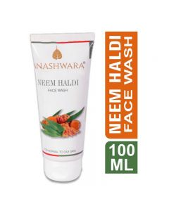 Bio Resurge Anashwara Neem Haldi Face Wash to remove pimples and acne 100ml