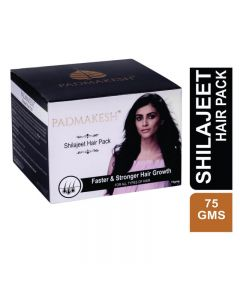 Bio Resurge Padmakesh Shilajit Natural Hair Pack growth for stronger and thicker hair 75gm