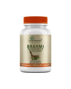 La Nature's Brahmi 500 mg|Boost Memory|Support  Brain Activity|Brahmi Vati|60 Veg Capsules
