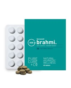 PURECURE+CO Brahmi Whole-Food Extract For Age Defense and Improved Memory, 250 mg - 60 Tablets