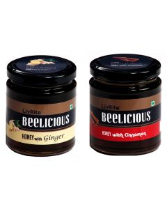 Beelicious Honey with Cinnamon - 250 gms &  Honey with Cardamom - 250 gms