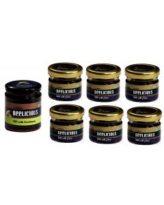 Beelicious Honey with Cardamom - 1x250 grams + Honey with Clove - 6x30 grams Each