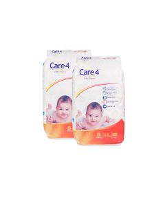 care4 baby diaper size s pack of 2