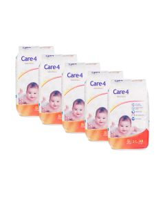 care4 baby diaper size s pack of 5