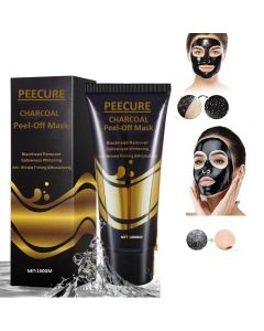 PEECURE Activated Charcoal Acne Purifying Black Peel Off Face Mask 100gm