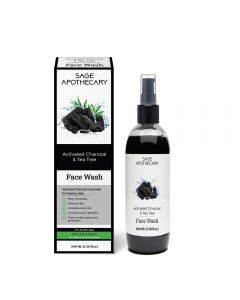 Sage Apothecary Activated Charcoal Face Wash - 100ml