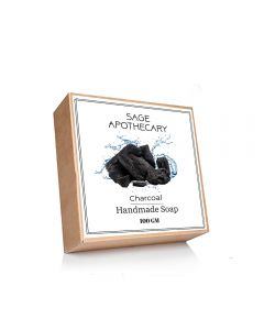 Sage Apothecary Charcoal Handmade Soap - 100g