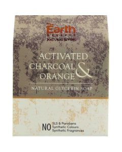 The Earth Reserve Activated Charcoal & Orange Natural Glycerin Soap - 100gm