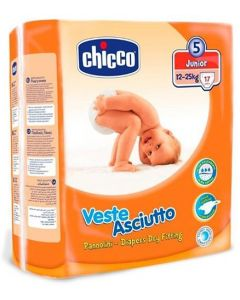 Chicco Veste Asciutto Dry Fitting Diapers Junior - 17 Pieces