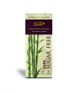 Zevic Belgian Dark Chocolate with Organic Jaggery With Stevia - 40 gm Natural Stevia Sweetened