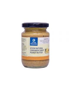 Future Organics Ayush Natural Cinnamon Sweet Peanut Butter - 160 gm