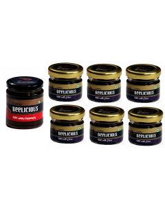 Beelicious Honey with Cinnamon - 1x250 grams + Honey with Clove - 6x30 grams Each