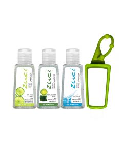 Zuci Hand Sanitizer Pack of 3 with Free Bag Tag - Citrus, Cucumber, Natural (30ml*3=90ml)