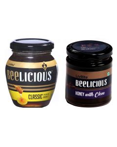 Beelicious Classic Premium Honey - 250 gms &  Honey with Clove - 250 gms